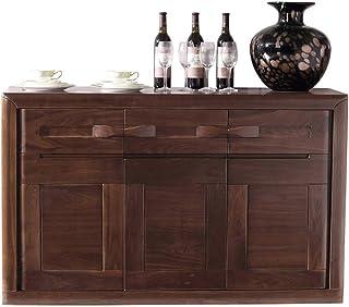 mesa de centro para sala de estar aparador Armario de almacenamiento de nogal negro Armario de almacenamiento de buffet A...