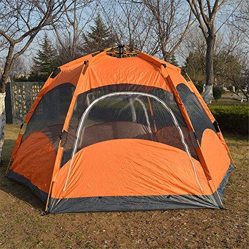 HONEYY 5-8 Person automatisch über Patente, Zelte Zelte Hochwertige Hexagon erhöhen Single Layer Zelt viele Menschen Outdoor Zelte 320 * 320 * 170 cm, EIN