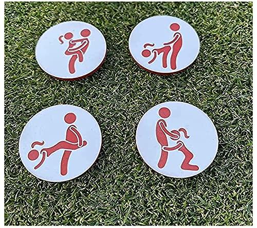 Marcadores De Pelota De Golf Juego De 4 De Humor Para Adultos, Marcador De Pelota De Golf Creativo, Clip De Sombrero De Marcador De Pelota De Golf, Divertido Regalo De Etiqueta