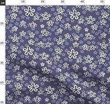 Blume, blau, retro, altmodisch, Herbstfarben, sfaut1915off
