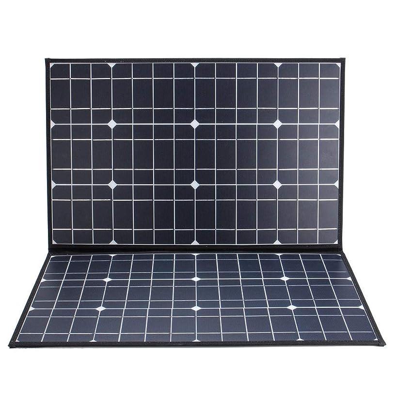 降ろすセマフォほうきソーラーパネル 1.5メートルMC4ケーブル、車電池無し80W 18V Monocrystallinel折りたたみソーラーパネルパッケージ ソーラー充電器 (Color : Black, Size : 820x630x6mm)