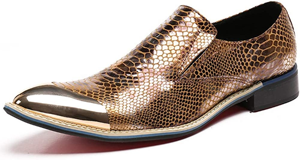 Rui Landed Oxford for Men Formal Shoes Slip On Style Genuine Leather Luxury Color Delicacy Honeycomb Texture