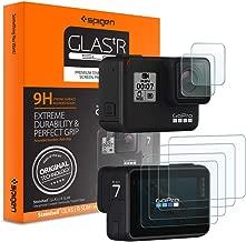Spigen Screen Protector Designed for GoPro Hero 7 (Black) / GoPro Hero 6 / GoPro Hero 5 (Front Glass x 2 / Back Film x 4)