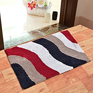 Generic India Fab Pure Cotton Anti Skid Water Obsorbing Door Mat - 20 Inch x 30 Inch, Multi Color