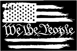 Firehouse Graphics Buy 2 get 3rd Free American Flag We The People Constitution Vinyl die Cut Sticker Decal Pledge of Allegiance 1776 2a