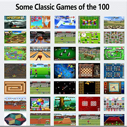 Beijue 16 Bit Handheld Games for Kids Adults 3.0'' Large Screen Preloaded 100 HD Classic Retro Video Games no Need WiFi USB Rechargeable Seniors Electronic Game Player Birthday Xmas Present (Red)