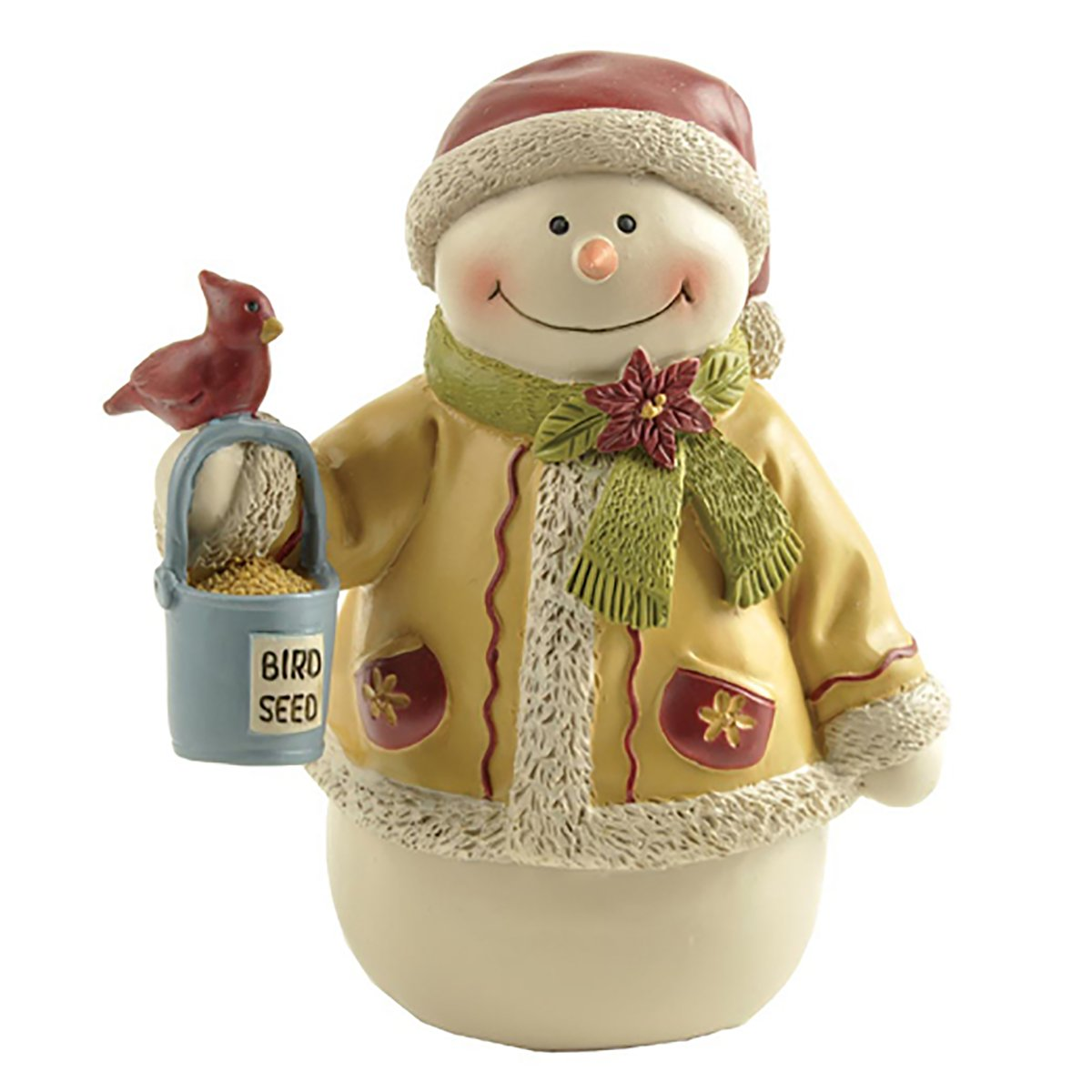 Image of Cardinal with Christmas Snowman Figurine - See More Snowman Figures