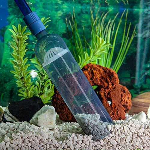 LL Products Gravel Vacuum for Aquarium - Fish Tank Gravel Cleaner- Aquarium Vacuum Cleaner -Aquarium Siphon - 8 FT Long Aquarium Gravel Cleaner with Mini Net