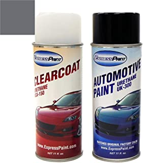 ExpressPaint Aerosol - Automotive Touch-up Paint for Volkswagen Jetta - Platinum Gray Metallic Clearcoat LD7X/2R - Color + Clearcoat Package