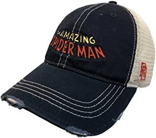 cd96438f721 The Amazing Spiderman Marvel Retro Brand Vintage Mesh Distressed Adj. Hat  Cap