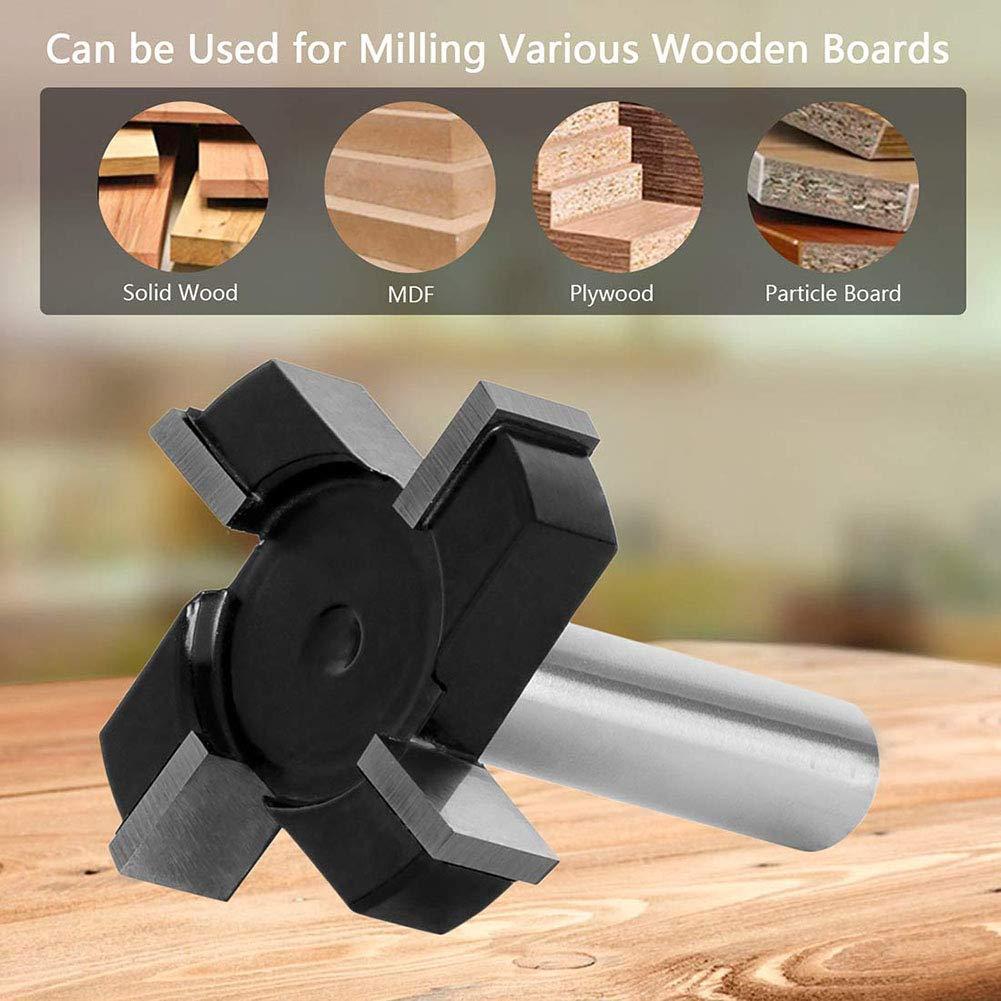 4 dientes para aplanar losas Seika Broca CNC para superficies de spoilboard con v/ástago 1//2