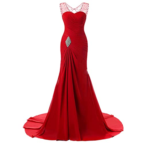 cb05bae62ea Lily Wedding Womens Mermaid Prom Bridesmaid Dresses 2018 Long Evening  Formal Party Ball Gowns FED003