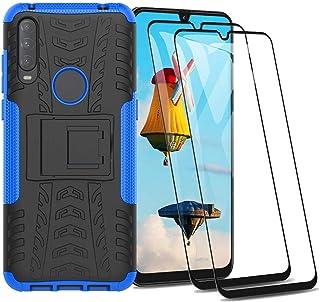 + 2 Piezas Protectores de Pantalla in Cristal Templado HD Case Caso Cover Transparente TPU Silicona para Alcatel 3L/2020 6.22 Pulgadas Sorpresa S/ímbolo KJYF Fundas para Alcatel 3L/2020