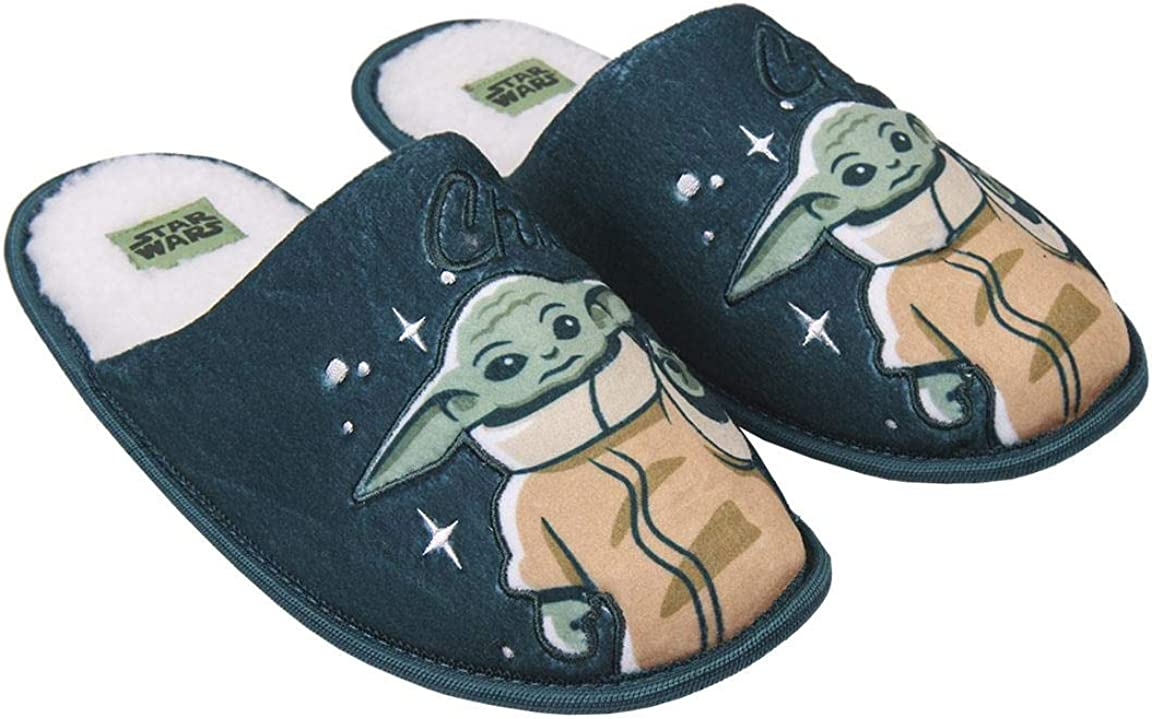 CERD/Á LIFES LITTLE MOMENTS Zapatillas de Casa Abiertas Hombre The Mandalorian-Licencia Oficial Star Wars