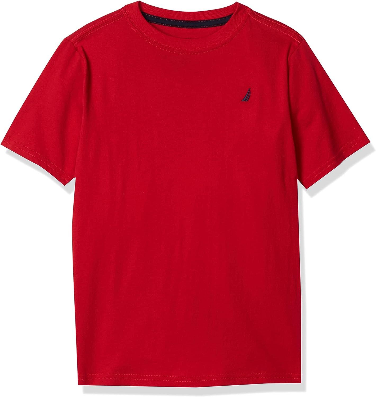Nautica Boys' Short Sleeve Solid Crew Neck T-Shirt