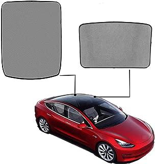 omotor Sunshade for Tesla Model 3 Glass Roof Mesh Sunshade/Overhead Roof Sunshade Rear Window Sunshade