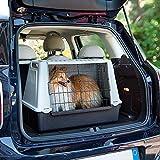 Ferplast 73079021W1 Autotransportbox ATLAS CAR MINI, für Hunde, Maße: 72 x 41 x 51 cm, grau - 5