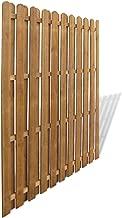yorten Panel de Valla de Jardín Vertical Madera FSC Resistente a la Putrefacción 180 x 180 cm Marrón