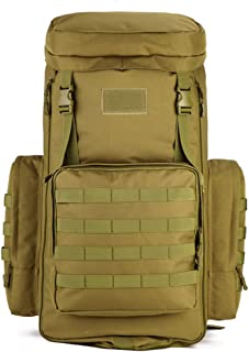 CREATOR 70-85L Large Capacity Tactical Travel Backpack MOLLE Hiking Rucksack Outdoor Travel Bag for Travelling Trekking Camping Hiking Hunting & Sports Events