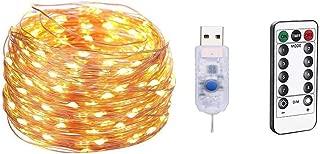 ♛ إضاءة خارجية 10 أمتار 100 لمبة LED مضادة للماء وشحن USB لحفلات الزفاف