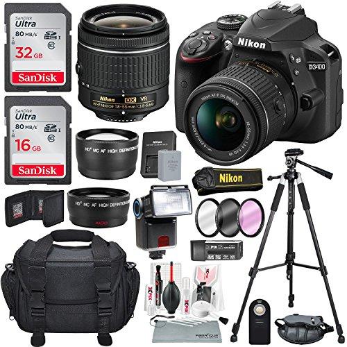 Nikon D3400 with AF-P DX NIKKOR 18-55mm...