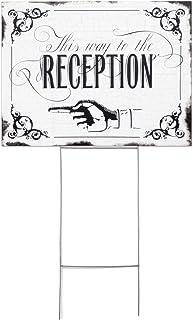 Hortense B. Hewitt Vintage Yard Sign Wedding Accessories, This Way to The Reception