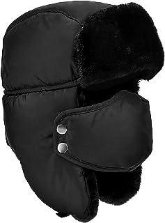 DOXHAUS Unisexe Hiver Chapka Ear Flap Trappeur Bomber Casquettes Bonnets Chapeaux Garder Chaud Patinage Ski Autres Activit...