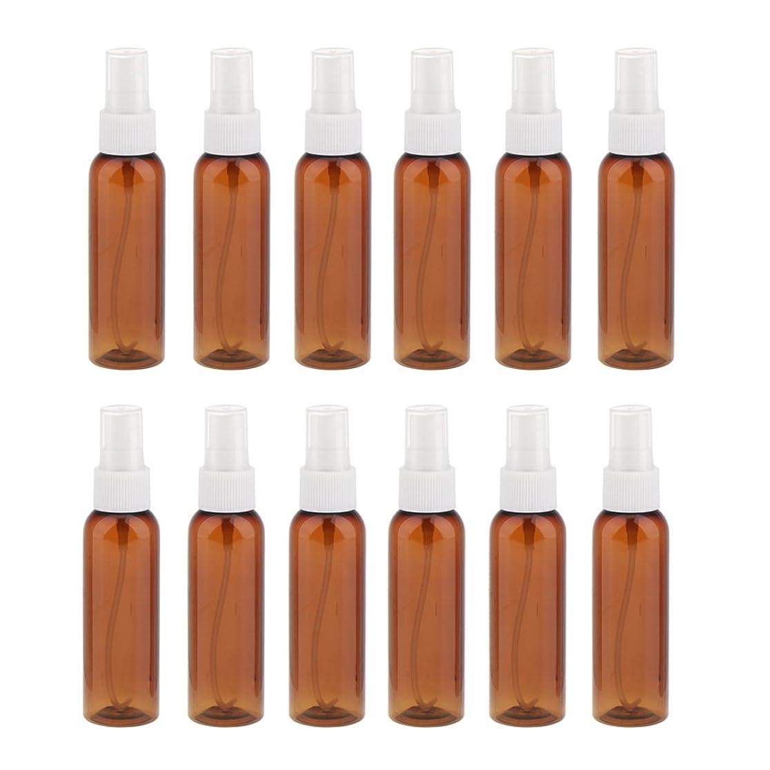 好きである髄ワイドSONONIA 詰め替え 化粧品容器 コンセプト 空のスプレーボトル 旅行 漏れ防止 60ml 12本 全3色 - 白