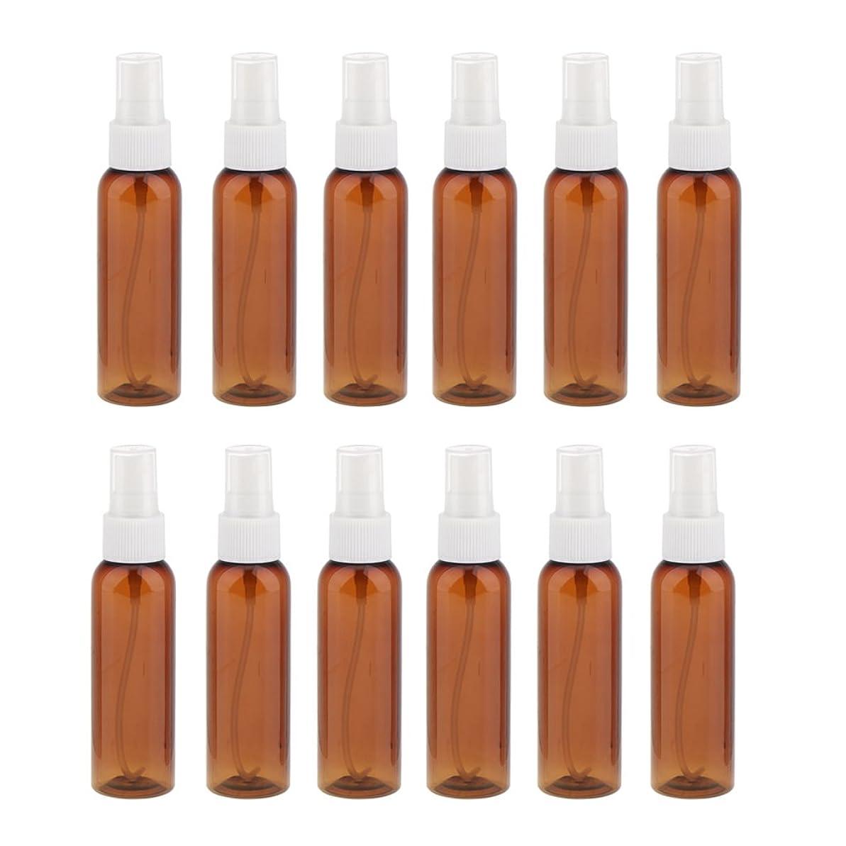 不規則性交流するあいまいPerfk お買い得!詰め替え 旅行 便携 化粧品容器 コンセプト 空瓶 スプレーボトル 漏れ防止 60ml 12本 全3色 - 白