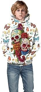 VIASA_ Kids 3D Digital Printed Sweatshirt Sweater Girl Boy Halloween Pullover Hoodies with Pocket 5-14 Years