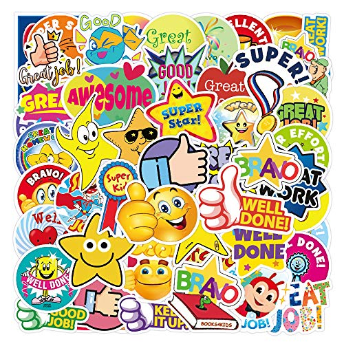 YCYY 50 Reward Kids You Awesome Graffiti Stickers Waterproof Suitcase Notebook Scooter Water Cup Stickers