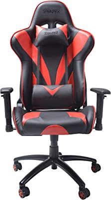 ZENEZ Gaming Chair Video Game Chairs Racing Style PU Leather High Back Adjustable with Headrest and
