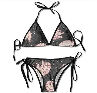 YongColer Women Bikini Sets Cheeky Beach Swimwear Bathing Suit Triangle Bikini Swimsuit