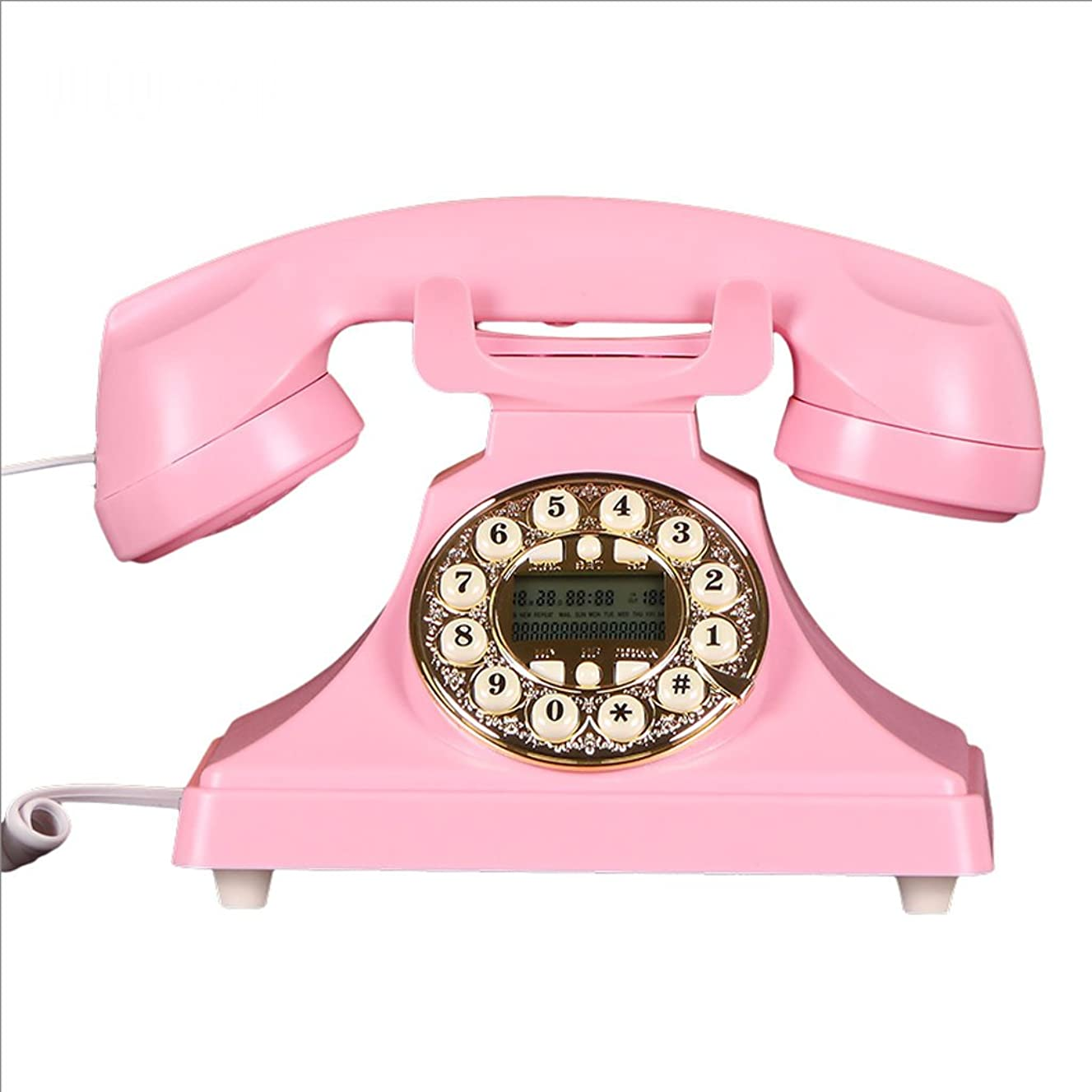 CHX Phone Antique European Style Vintage Retro Wired Household Fixed Landline Phone (Color : Pink, Size : L220MMW130MM)