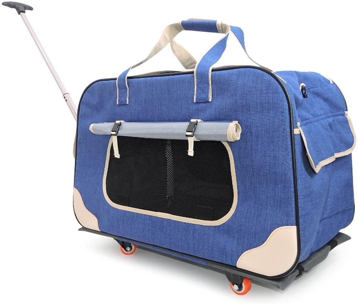 Dixinla Pet Carrier Backpack Fourwheeled suitcase bag with breathable fully enclosed