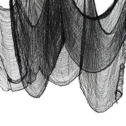 Halloween Deko, Dekostoff Tuch Decke, Decke Horror Halloweenstoff, Dekorationen für Spuk Haus, Kann in Verwendet, Halloween Deko, Horror Deko, Kreaturen, Halloween(Schwarz)