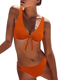 Women's Sexy Detachable Padded Cutout Push Up Striped Bikini Set Two Piece Swimsuit