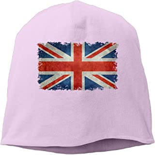 Womens Knit Daily Beanie Hats Union Jack Flag Vintage Casual Watch Cap
