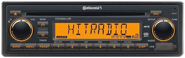 CD7426U-OR - Radio para Camiones (24 V, RDS, CD, MP3, WMA, USB, 24 V)