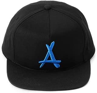 "Tha Alumni Clothing (アルムナイクロージング) スナップバックキャップ ブラック×エレクトリックブルーロゴ""CLASSIC A SNAPBACK (BLACK+ELECTRIC BLUE)"" [並行輸入品]"
