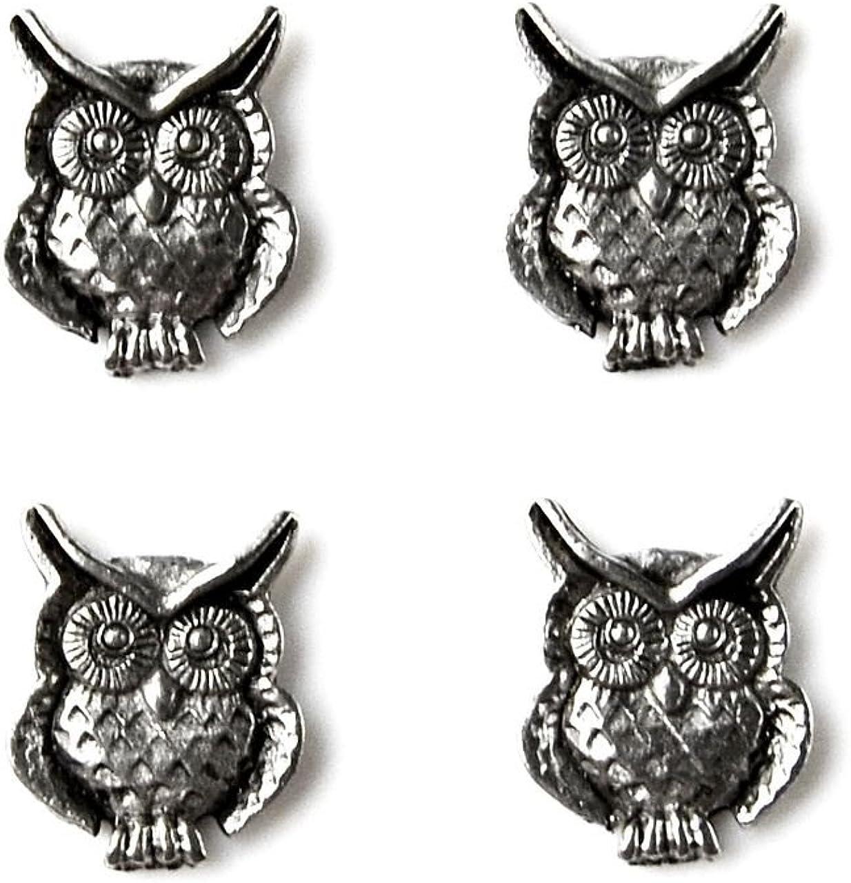 Quality Handcrafts Guaranteed Owl Tuxedo Studs