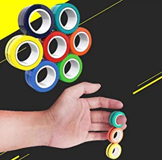 UKKUER Stress Reliever Magnetic Rings Toys - Magnetic Bracelet Ring Unzip Toy Magical Ring Props Tools, Stress Relief Redu...