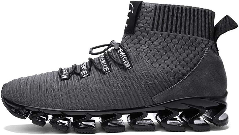 Män's Casual skor Fall Fall Fall Winter Knit mode Elastiska Socks Skor Lazy skor High Top Comfortable Sports skor (Färg  B, Storlek  42)  grossist billig och hög kvalitet