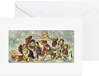 CafePress - Vintage Christmas 1964 Greeting Cards - Greeting Card (20-pack), Note Card with Blank Inside, Birthday Card Matte