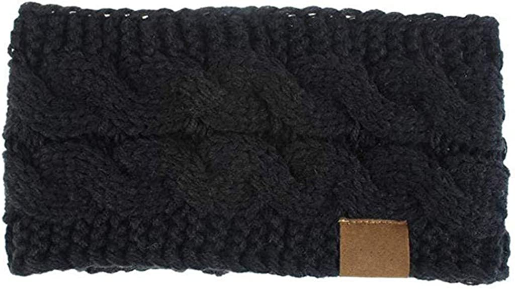 OTTATAT 2020 Women's Winter Headbands Cable Knitted Headbands, Chunky Ear Warmers Suitable for Daily Wear and Sport