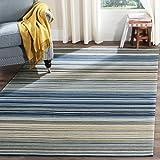 Colección de Marbella Safavieh MRB289A hecha a mano azul y área de lana multicolor alfombra, 3-Feet por 5pies