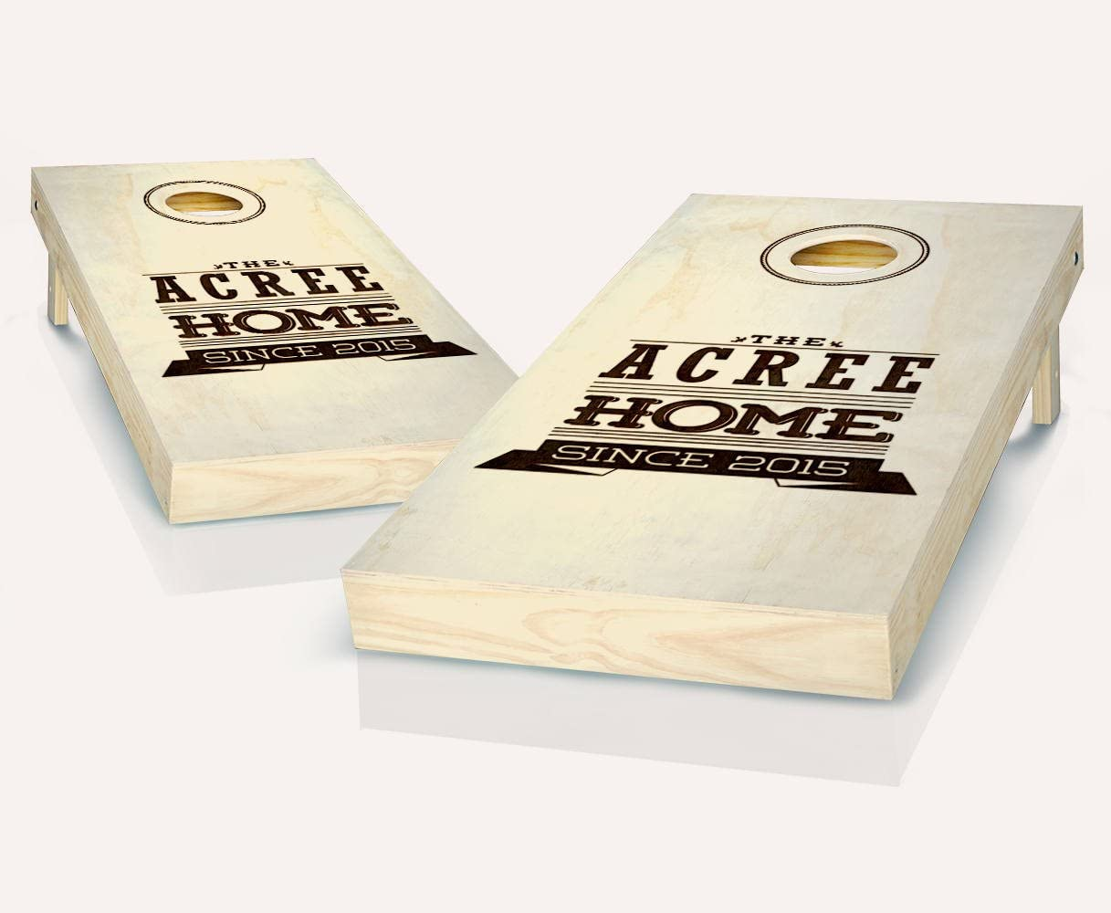 Discount is also underway Woodburn Selling and selling Home Custom Personalized Family B Stained Cornhole Name