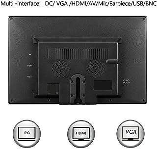 MeterMall Útil para visualización de 9 Pulgadas HD TFT LCD portátil 1080x720 (16:9) resolución a Color Monitor de vídeo con VGA AV HDMI para PC/CCTV/Seguridad en el hogar.