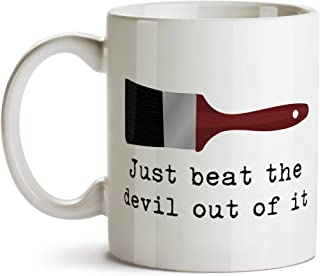 Just beat the devil out of it (Bob Ross inspired) Mug