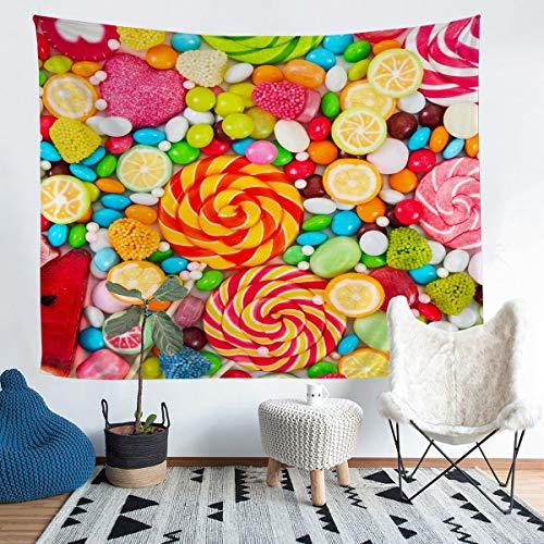 Tapiz para colgar en la pared para niños y mujeres, bonito tapiz de caramelos, decoración de pared, bonito y colorido para dormitorio, sala de estar, extragrande de 152 cm x 238 cm
